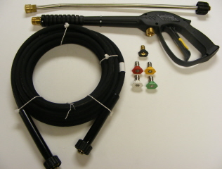 Trigger Gun, HP Hose 25', Spray Wand & QC Nozzles Combination