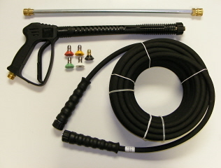 Trigger Gun 4500psi, HP Hose 50', Spray Wand & QC Nozzle Combination
