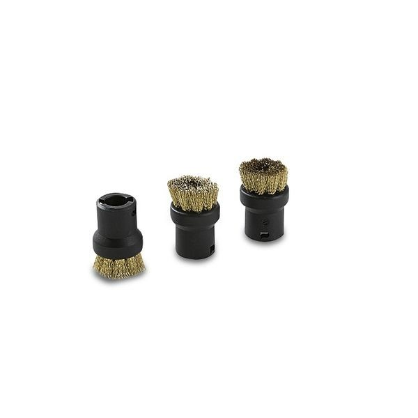 Round Brush Set of 3 (Brass Bristles)