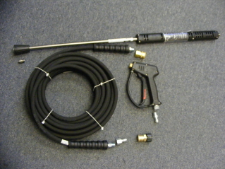 HOT WATER Trigger Gun, HP Hose 50', Spray Wand & Nozzle